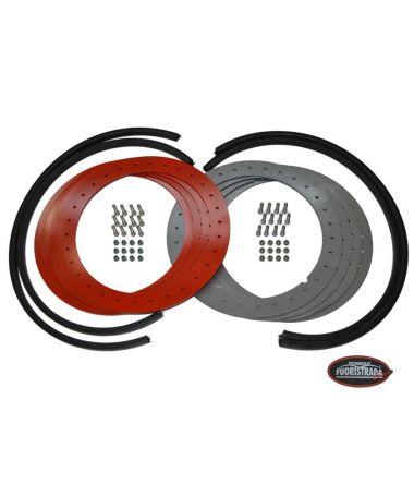 Kit flange Beadlock antistallonamento con flangia in acciaio per cerchi con raggio  15