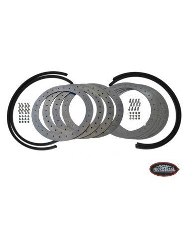 Kit flange Beadlock antistallonamento con flangia in acciaio per cerchi con raggio 16