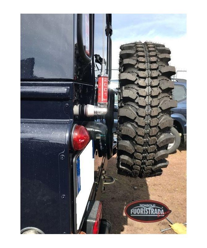 Cancello portaruota posteriore tipo B per Land Rover Defender dal 2002