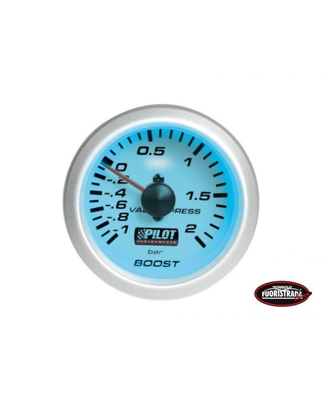 Manometro pressione turbo luce blue (52mm)