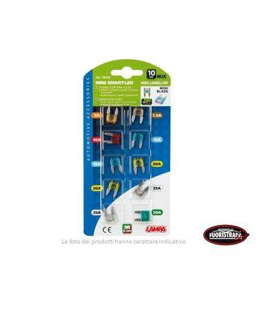 Micro-Fusibili Lamellari Con Spia a Led Guasto , 12/32V - Confezione Assortita (10 Pezzi) Lampa