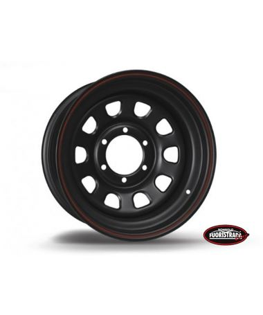Cerchio Daytona Nero In Acciaio 7X16 -25