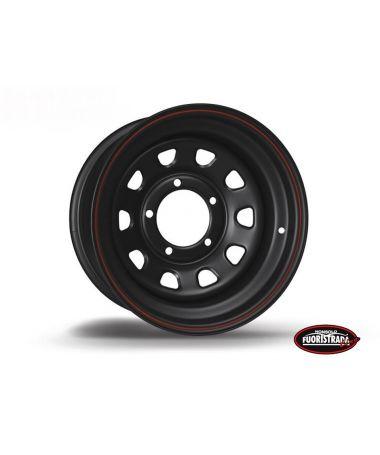 Cerchio Daytona Nero In Acciaio 16X7 ET -12 Per Suzuki / Daihatsu