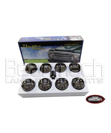 KIT 8 Luci a Led Per Land Rover Defender Con Vetro Fumè