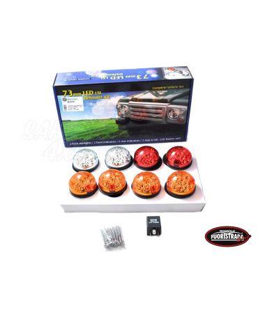 KIT 8 Luci a Led Per Land Rover Defender Con Vetro Colorato