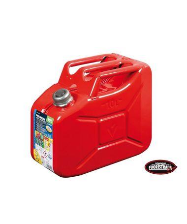 Tanica Premium Carburante in metallo 10 LT Rosso
