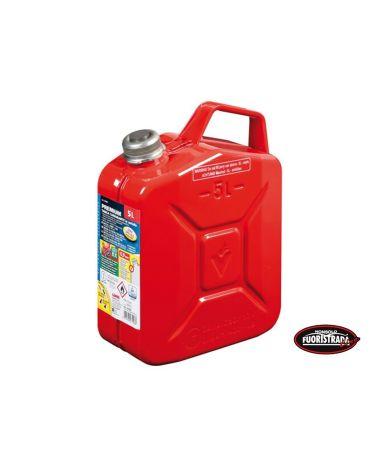 Tanica Premium Carburante in Metallo 5 LT Rosso