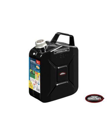 Tanica Premium Carburante in Metallo 5 LT Nero