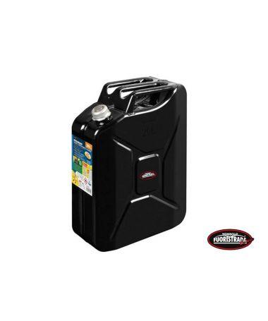 Tanica Premium Carburante in metallo 20 LT Nero
