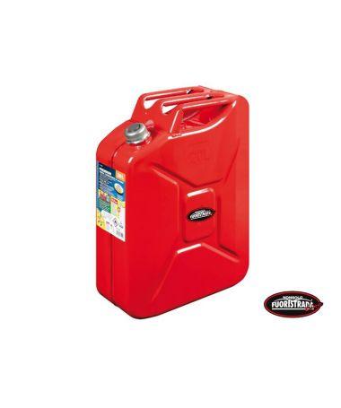 Tanica Premium Carburante in metallo 20 LT Rosso