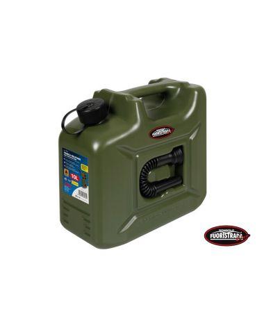 Tanica carburante in polietilene modello militare 10 L