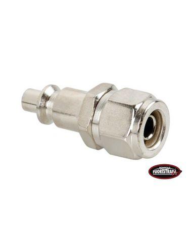 Connettore Aria per tubo Ø 8 mm ad attacco rapido maschio