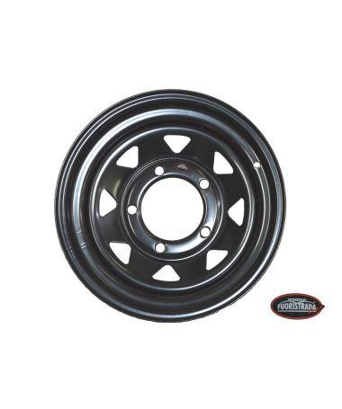 Cerchio In Ferro  7X16  +8  Nero Per Land Rover