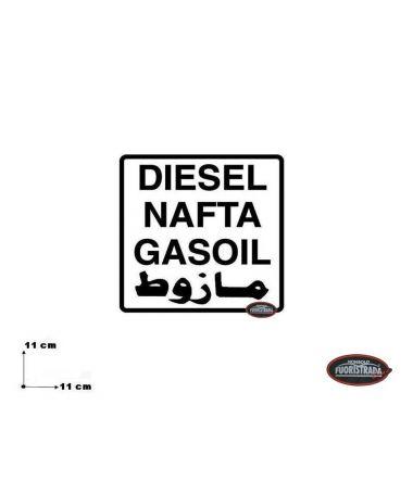 Adesivo Gasolio
