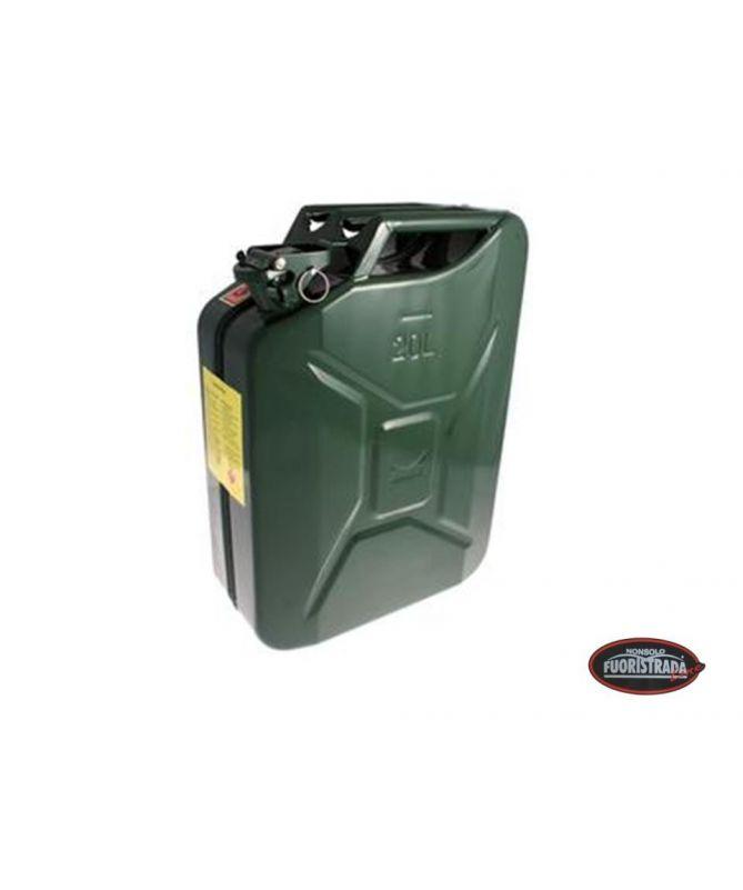 Tanica carburante in metallo 20LT Verde